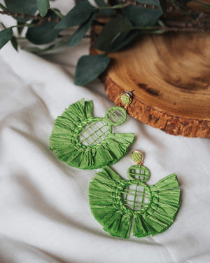 Wright Crepe Earrings (Green)