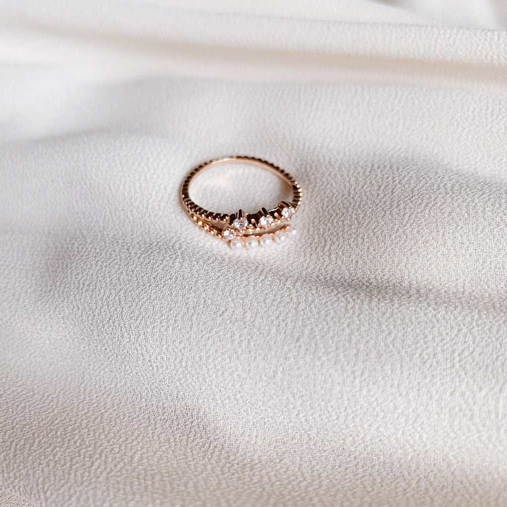 Skylar Pearl Cocktail Ring (Rose Gold)