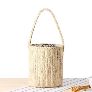 *PREORDER* Rattan Bucket Bag (Cream)