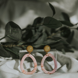 Novelle Pink Tortoiseshell Earrings