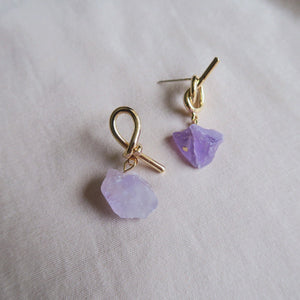 925 SILVER Taliah Earrings (Amethyst)
