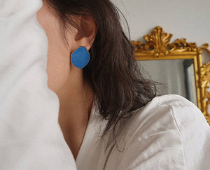 925 SILVER Lauryn Mismatched Earrings (Royal Blue & Cloud)