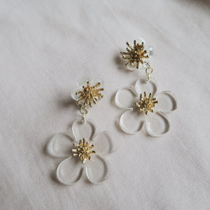 925 SILVER Anaya Floral Earrings