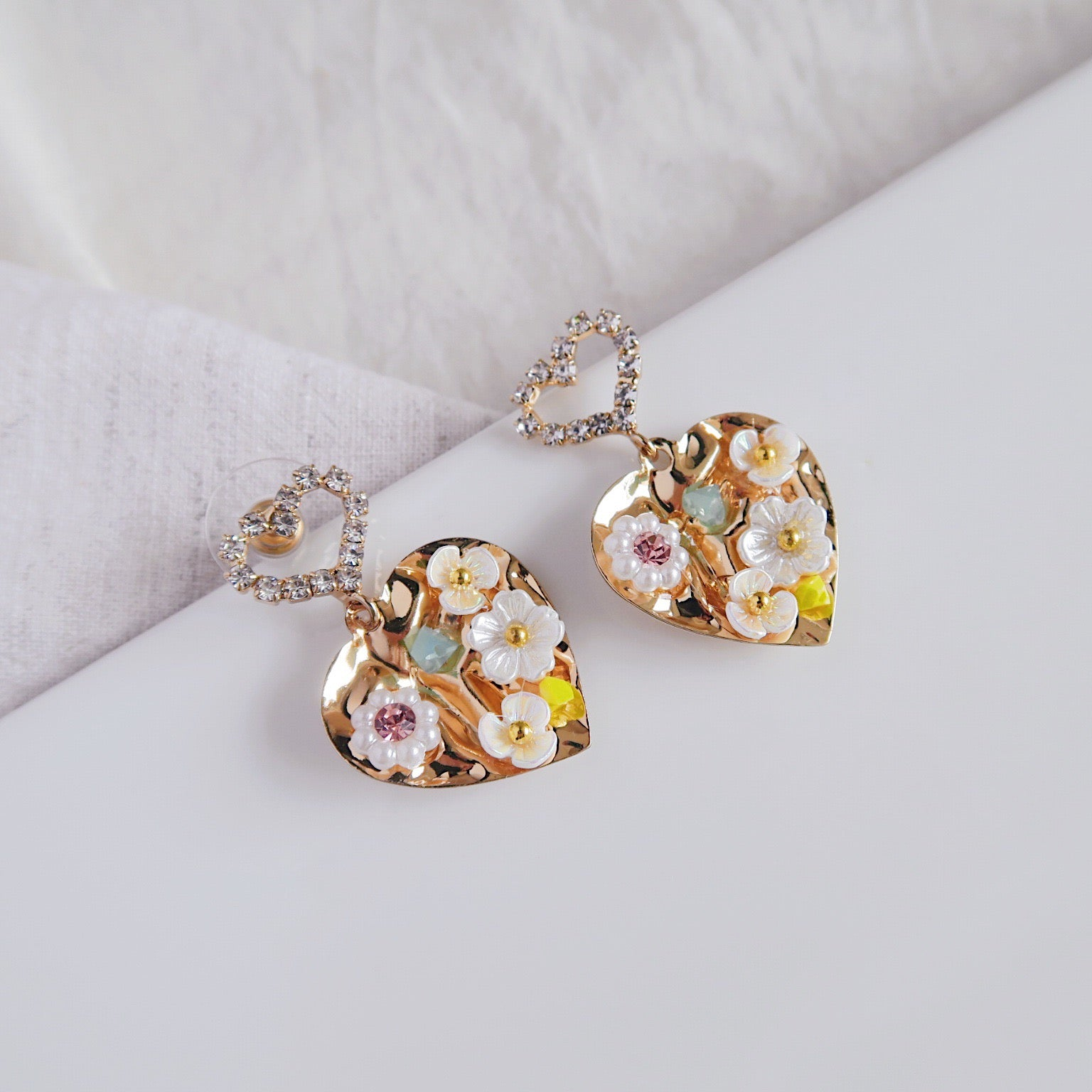 925 SILVER Eira Floral Earrings