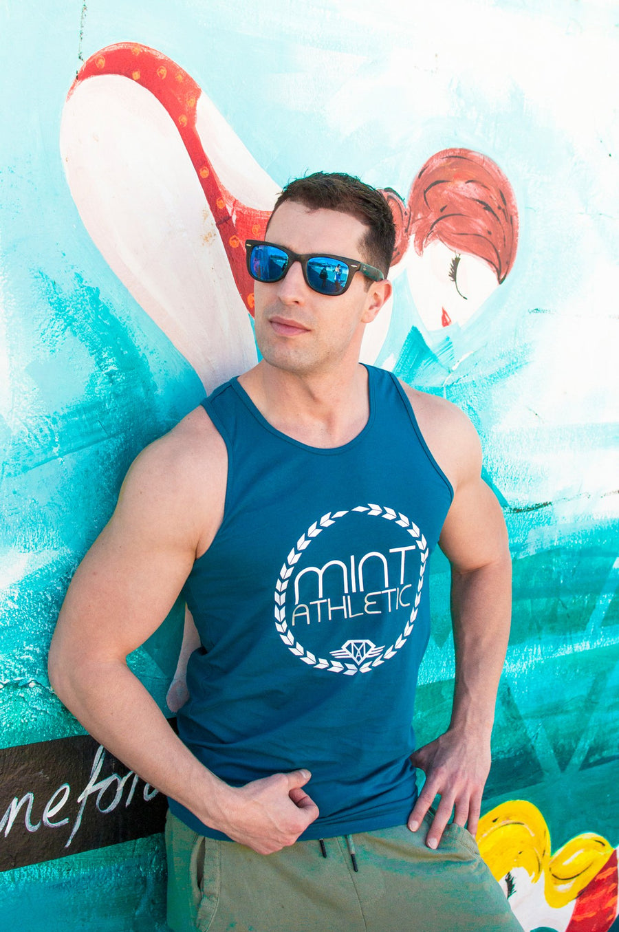 Navy Classic Tank Top - Mint Athletic Apparel