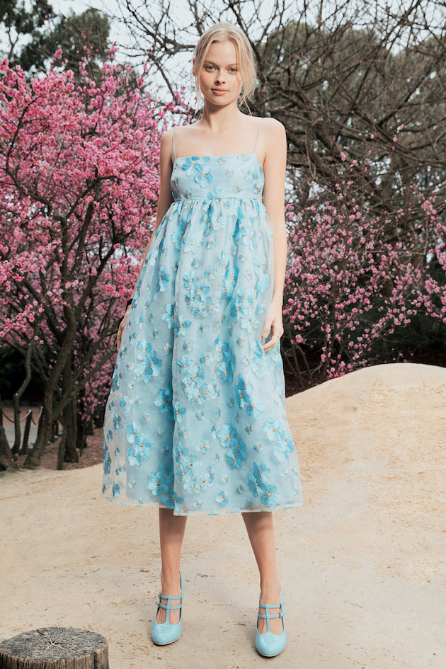 Bluebell Dress in Blue Blossom