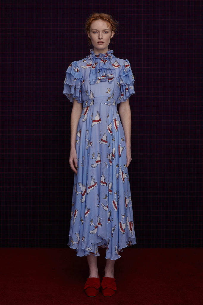 Cathedral Dress in Blue Swan