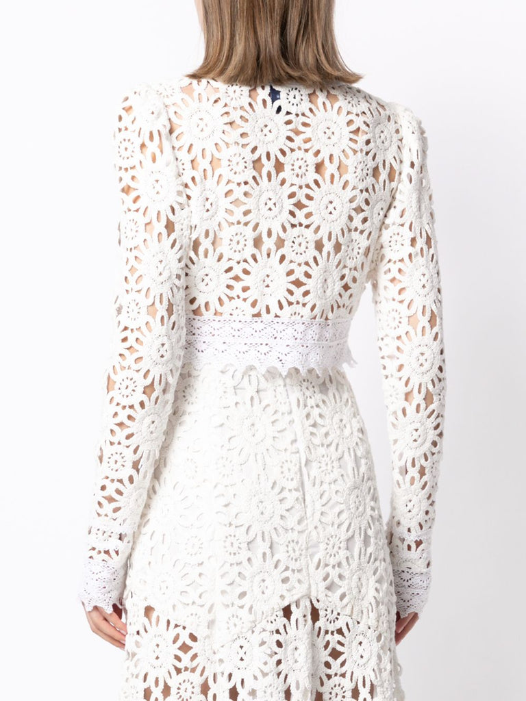 Noble Top in Ivory Lace