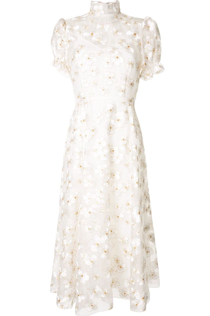 Porcelain Dress in Ivory Blossom