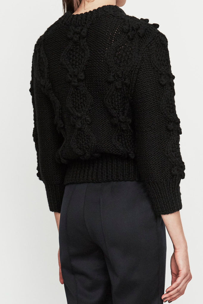 Propagation jumper in black wool
