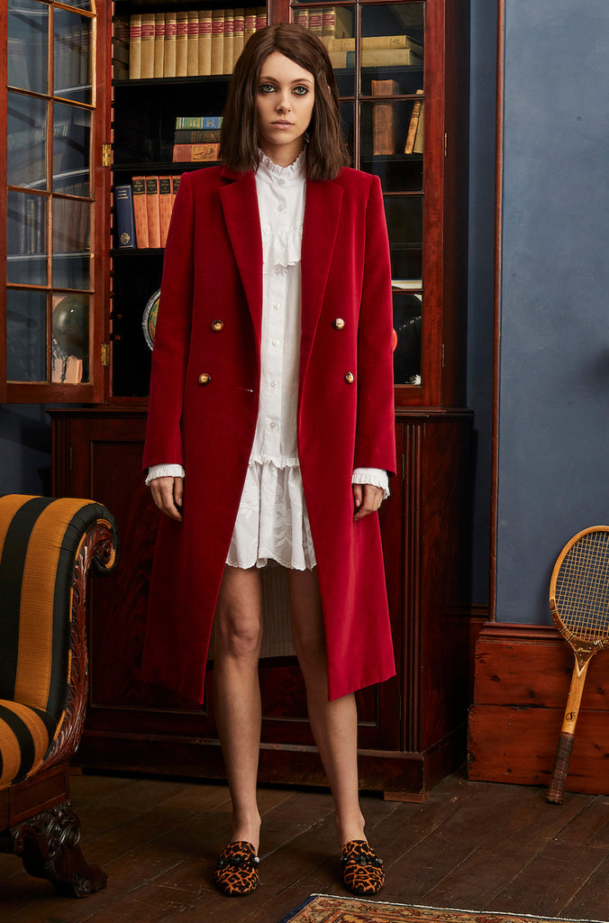 Royal Long Blazer in Wine