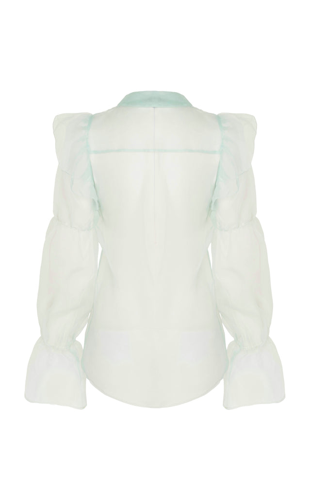Souffle Blouse in Mint