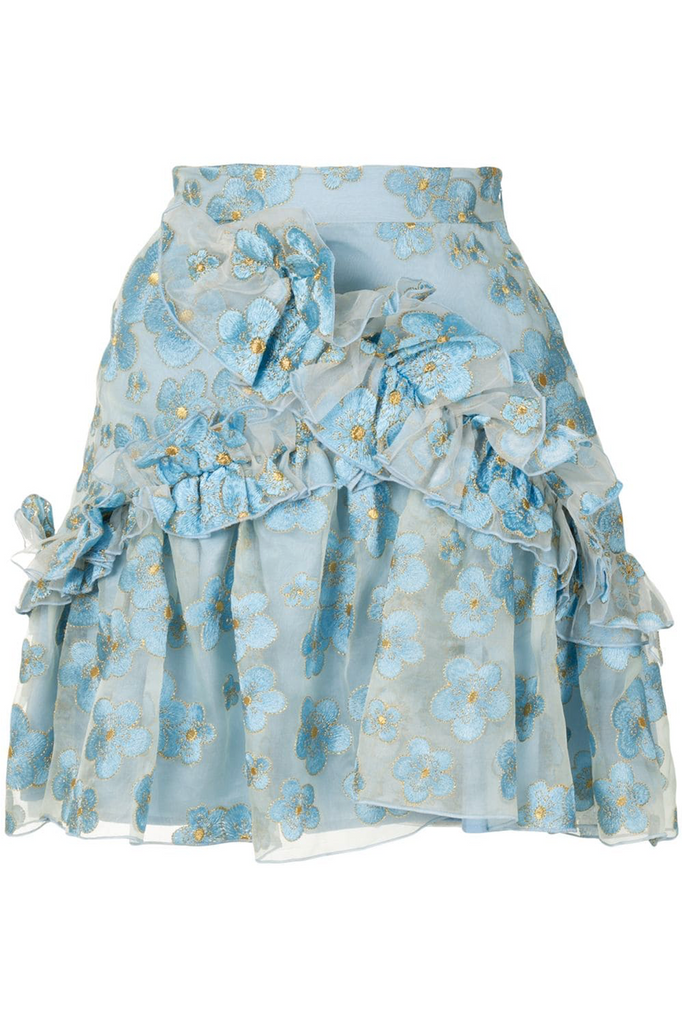 Souffle Skirt in Blue Blossom