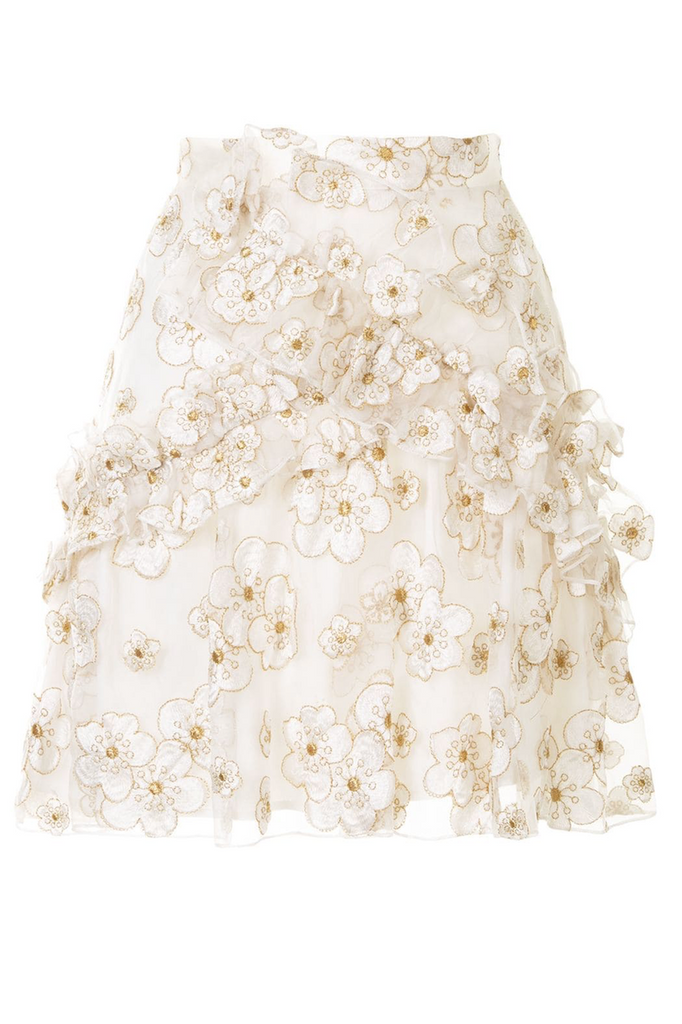 Souffle Skirt in Ivory Blossom
