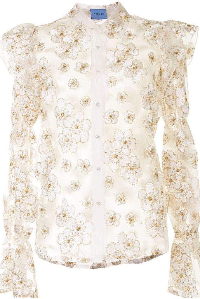 Souffle Blouse in Ivory Blossom