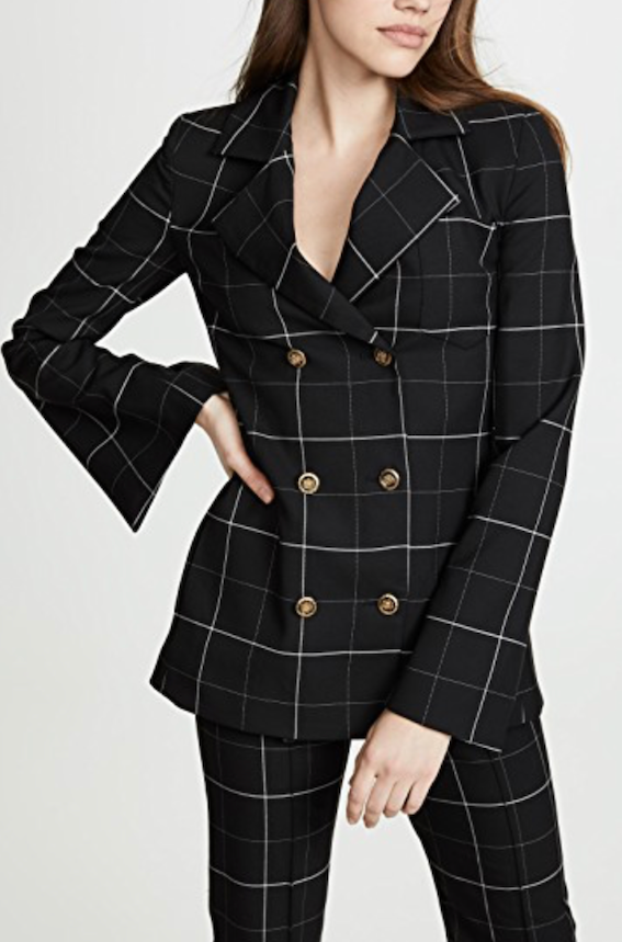 Genius Blazer in Black Check