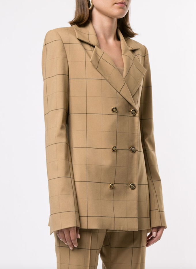 Genius Blazer in Camel Check