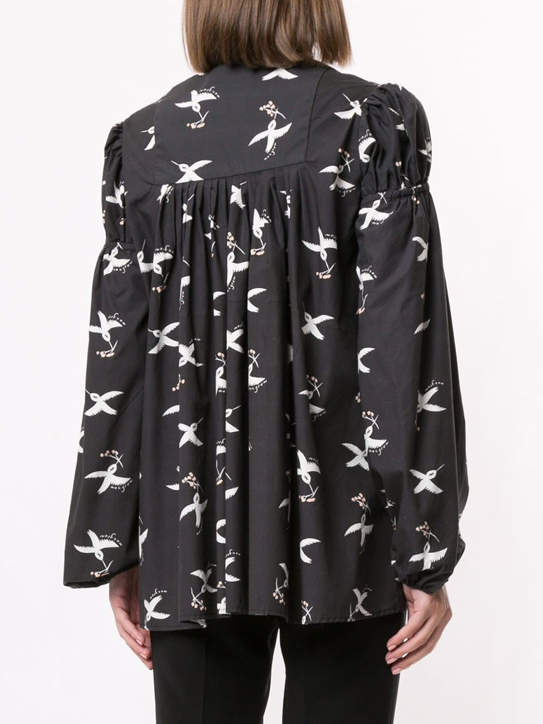 Hibernation Top in Bird Print