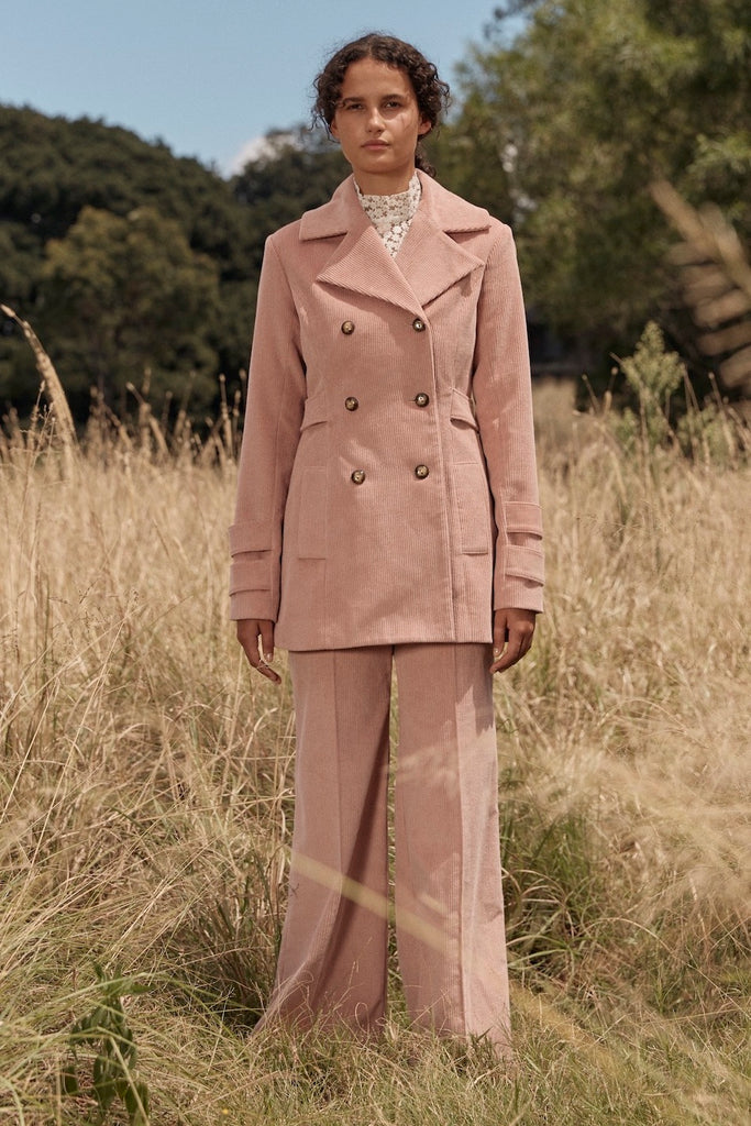 Historical Coat in Pink Corduroy