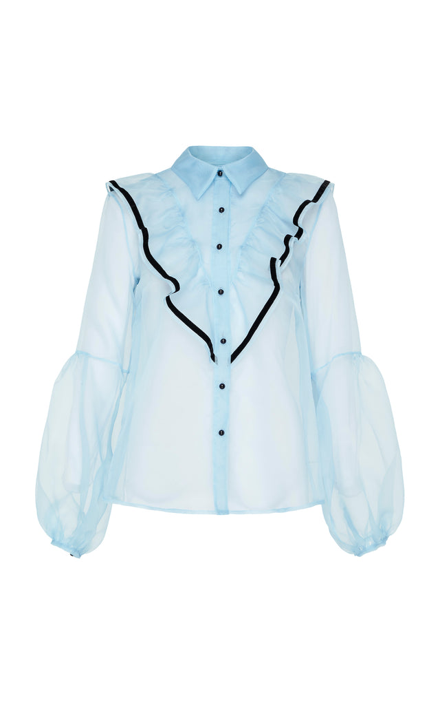 Love bird blouse in blue