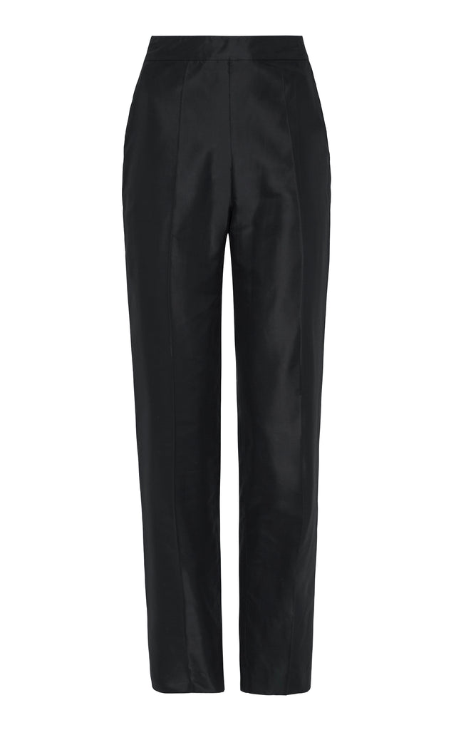 Non chalant Silk Trouser in black
