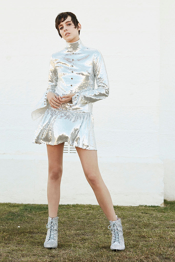 Prism Dress in Silver