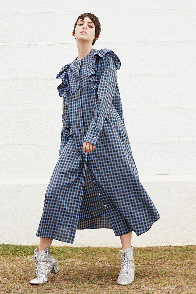 Signal Shirt Dress in Check
