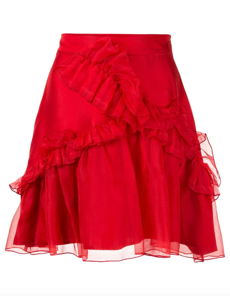 Soufflé Skirt in Red