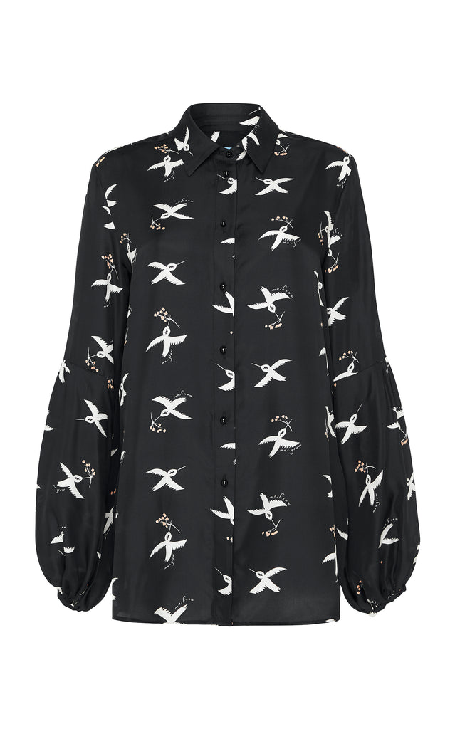 St Clair Blouse in Bird Print