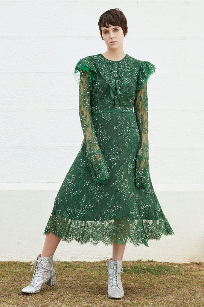 Stone Love Dress in Green