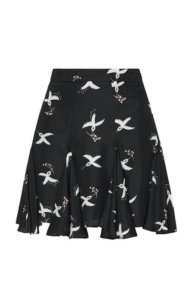 Symphony Skirt in Bird Print