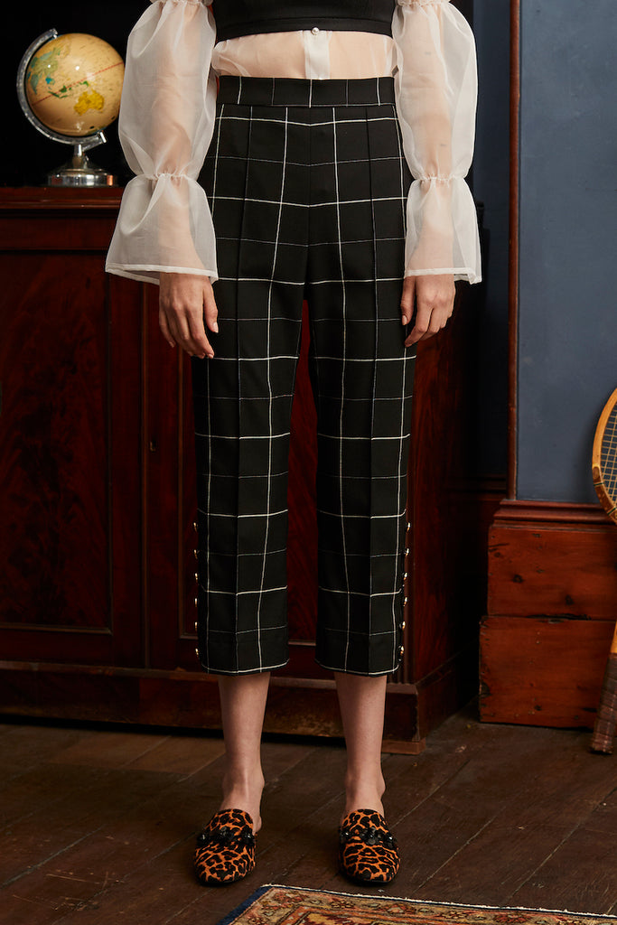 Vernacular Trouser in Black Check
