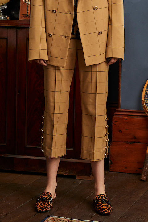 Vernacular Trouser in Camel Check