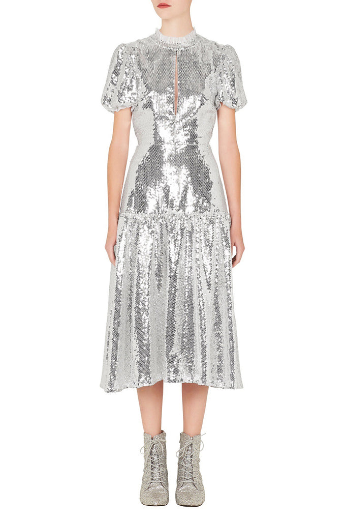 Ziggy Dress in Silver
