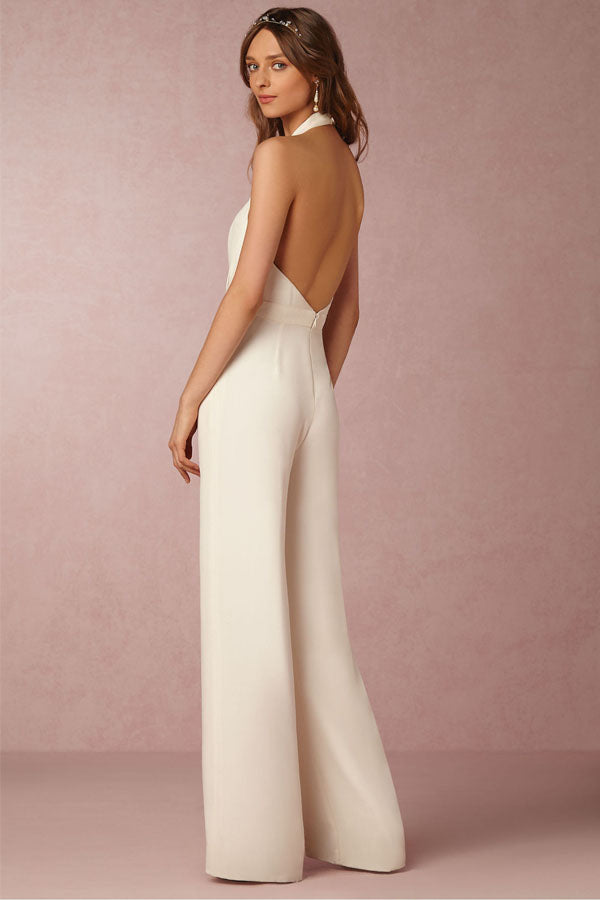 6cb50431feb Sexy White Jumpsuit - Backless Jumpsuit - Wide-Leg Jumpsuit -  52 ...