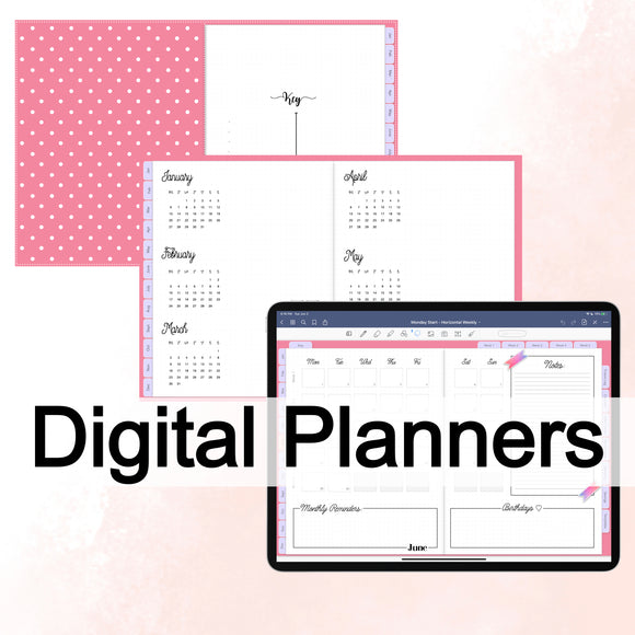 Digital planner, digital bullet journal, digital planner stickers
