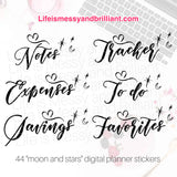 digital planner stickers, bullet journal stickers, digital planner, digital bullet journal