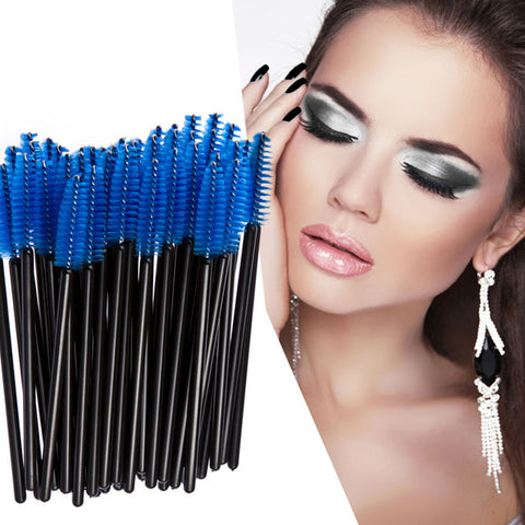 50-Count Disposable Eyelash Brushes