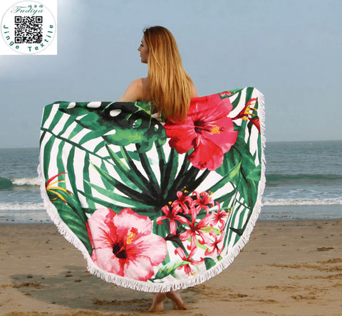Large Quick-Dry Microfiber Printed Beach Towel