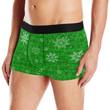 Green Holiday Snowflake Boxer Briefs | BigTexFunkadelic