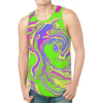 Neon Oil Spill Relaxed Fit Men's EDM Tank Top