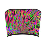 Neon Acid Waves Bandeau Top | EDM Rave Wear | BigTexFunkadelic