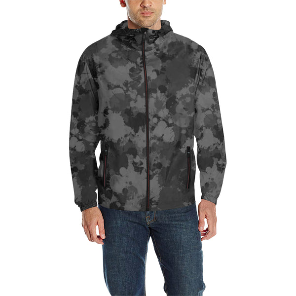 Charcoal Paint Splatter Camo Quilted Windbreaker | BigTexFunkadelic