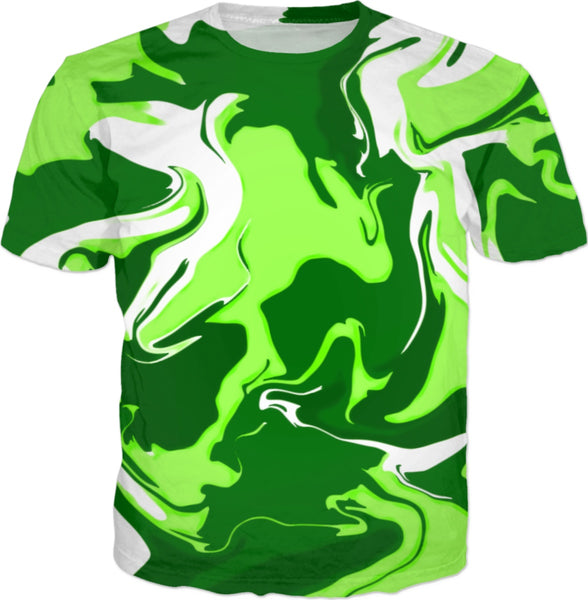 Green Psychedelic Spill T-Shirt | BigTexFunkadelic