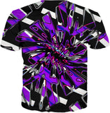 Purple Hypnotic Chrome T-Shirt | BigTexFunkadelic