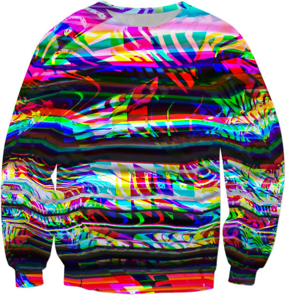 Rave Static Glitch Art Sweatshirt | BigTexFunkadelic