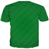 Back of Let's Get Baked Gingerbread Man Christmas T-Shirt (Woven Green)