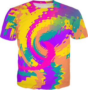 80s Magic Color Blast All Over Print T-Shirt | BigTexFunkadelic
