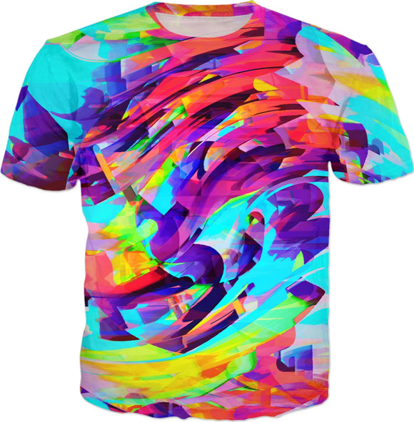 Rainbow Graffiti Mix Explosion T-Shirt | EDM | Festival Fashion | BigTexFunkadelic