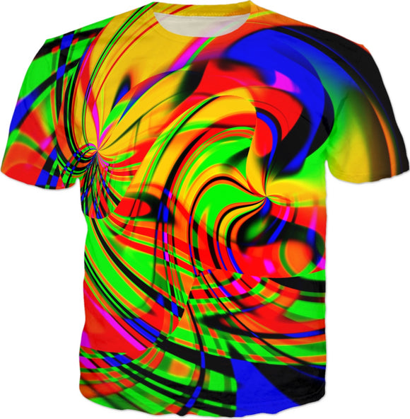 Rainbow Sunbeam Glitch T-Shirt | BigTexFunkadelic